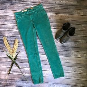Pilcro and the Letterpress Green Corduroy Skinny
